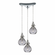 ELK 46014-3 Danica Modern Polished Chrome Multi Ceiling Light Pendant