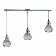 ELK 46014-3L Danica Contemporary Polished Chrome Multi Ceiling Pendant Light