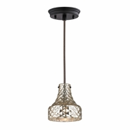 ELK 46023-1 Danica Contemporary Oil Rubbed Bronze Mini Pendant Lamp