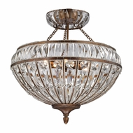 ELK 46045-6 Empire Mocha Flush Mount Lighting