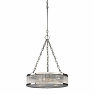 ELK 46105-3 Linden Polished Nickel Drum Pendant Light Fixture