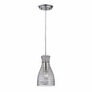 ELK 46107-1 Strata Contemporary Polished Chrome Mini Pendant Lighting Fixture