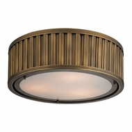 ELK 46121-3 Linden Aged Brass Flush Mount Lighting