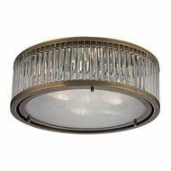 ELK 46123-3 Linden Aged Brass Flush Mount Light Fixture