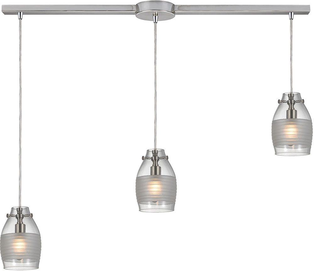 Elk Carved Glass Modern Brushed Nickel Halogen Multi