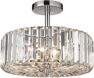 ELK 46185-3 Clearview Polished Chrome Halogen Flush Mount Ceiling Light Fixture