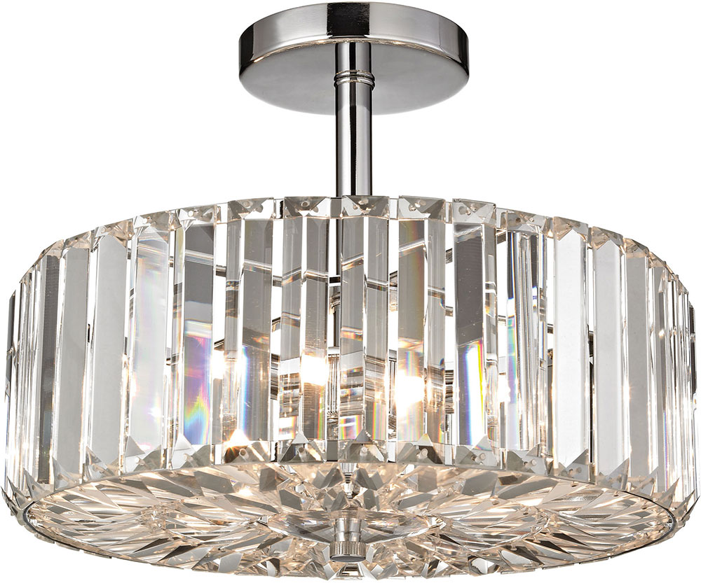 flush light chrome com artcraft seattle ceiling fixtures dp amazon semi lighting mount polished