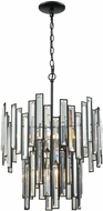 ELK 46195-6 Lineo Matte Black Hanging Light