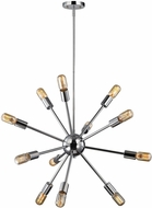 ELK 46234-12 Delphine Contemporary Polished Chrome Chandelier Lamp