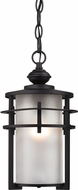 ELK 46253-1 Meadowview Matte Black Outdoor Pendant Lamp