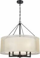 ELK 46268-5 Ashland Matte Black 26  Drum Hanging Pendant Lighting