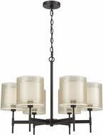 ELK 46269-6 Ashland Matte Black Chandelier Light