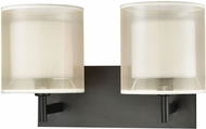 ELK 46301-2 Ashland Matte Black 2-Light Vanity Lighting Fixture