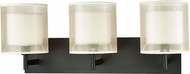 ELK 46302-3 Ashland Matte Black 3-Light Bathroom Vanity Light Fixture