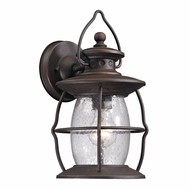 ELK 47040-1 Village Lantern Traditional Weathered Charcoal Exterior Wall Lighting Sconce