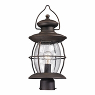 ELK 47041-1 Village Lantern Traditional Weathered Charcoal Outdoor Lighting Post Light