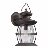 ELK 47042-1 Village Lantern Traditional Weathered Charcoal Exterior Wall Sconce Lighting