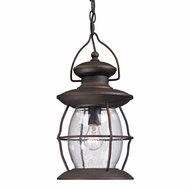 ELK 47043-1 Village Lantern Traditional Weathered Charcoal Outdoor Hanging Pendant Lighting