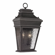 ELK 47052-2 Forged Provincial Traditional Charcoal Exterior Wall Sconce Light
