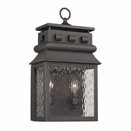 ELK 47061-2 Forged Lancaster Traditional Charcoal Exterior Sconce Lighting