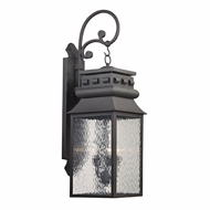 ELK 47064-3 Forged Lancaster Traditional Charcoal Outdoor Lighting Sconce