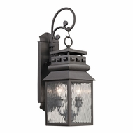 ELK 47065-2 Forged Lancaster Traditional Charcoal Exterior Lamp Sconce