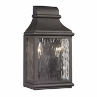 ELK 47070-2 Forged Jefferson Traditional Charcoal Exterior Wall Sconce Lighting