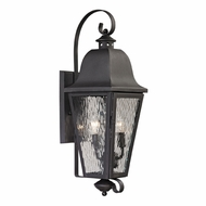 ELK 47101-2 Forged Brookridge Traditional Charcoal Outdoor Light Sconce
