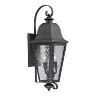 ELK 47102-3 Forged Brookridge Traditional Charcoal Exterior Lighting Sconce