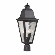 ELK 47105-3 Forged Brookridge Traditional Charcoal Outdoor Post Light Fixture