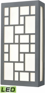 ELK 47161-LED Rectangles Contemporary Dark Graphite LED Outdoor Wall Light Sconce