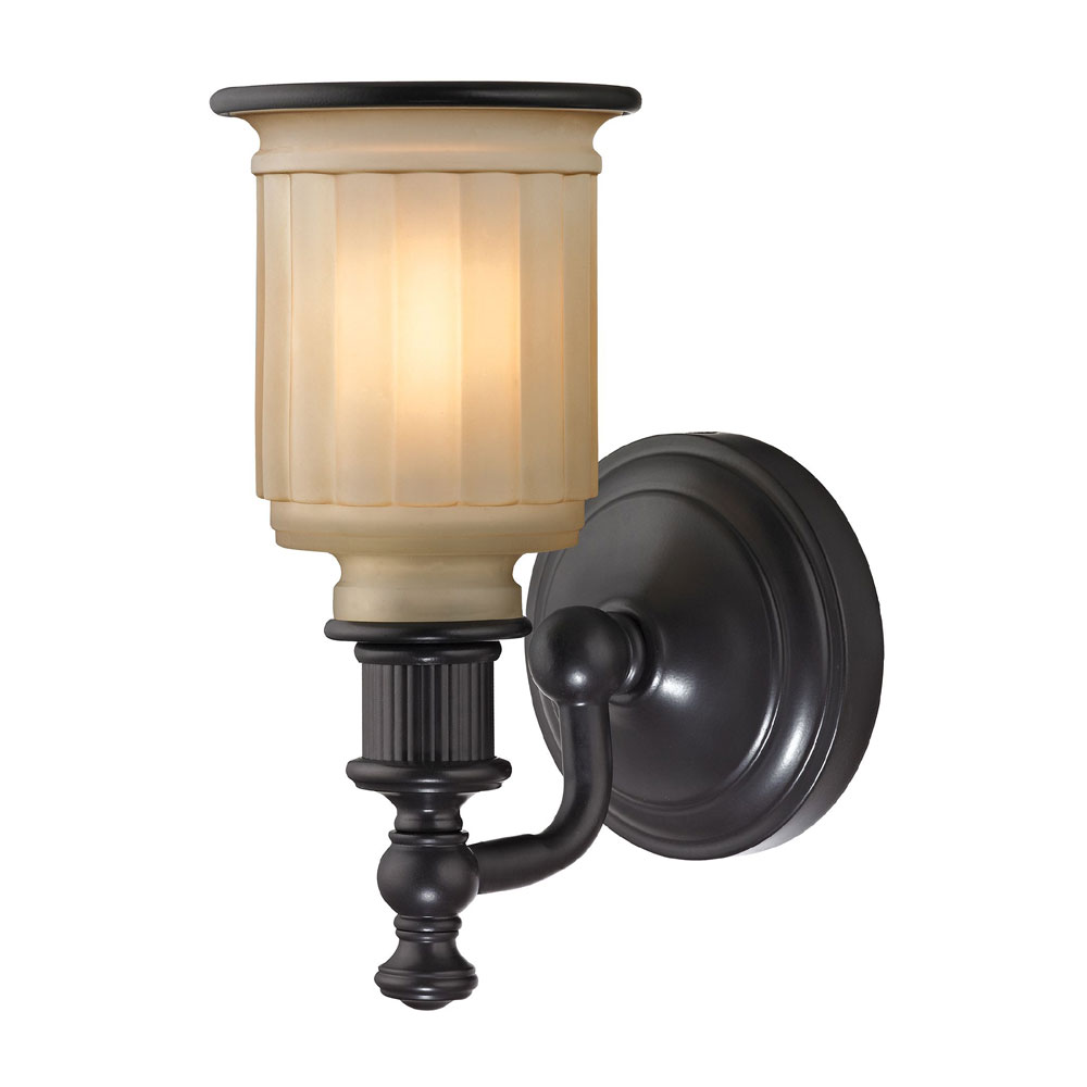 Wall Sconces Oil Rubbed Bronze : ELK 52010-1 Acadia Oil Rubbed Bronze Lighting Wall Sconce - ELK-52010-1