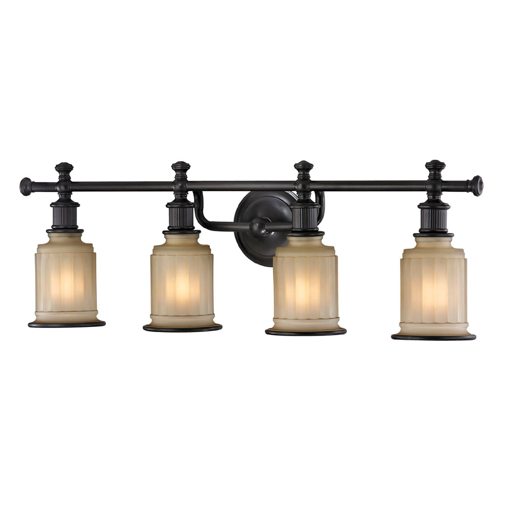 Elk 52013 4 acadia oil rubbed bronze 4 light bathroom for 4 light bathroom fixture