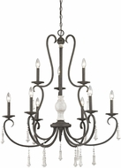 ELK 52024-6-3 Porto Cristo Palermo Rust,Birtch 37  Chandelier Light
