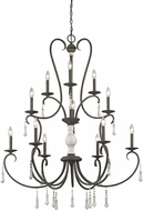 ELK 52025-6-3-3 Porto Cristo Palermo Rust,Birtch 42  Chandelier Lighting