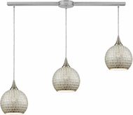ELK 529-3L-SLV Fusion Contemporary Satin Nickel Multi Pendant Lighting