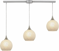 ELK 529-3L-WHT Fusion Modern Satin Nickel Multi Pendant Light