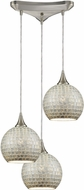 ELK 529-3SLV Fusion Contemporary Satin Nickel Multi Lighting Pendant