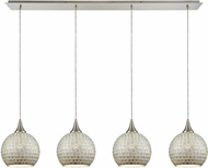 ELK 529-4LP-SLV Fusion Contemporary Satin Nickel Multi Hanging Lamp