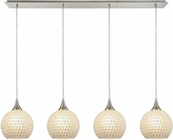 ELK 529-4LP-WHT Fusion Modern Satin Nickel Multi Hanging Light