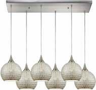 ELK 529-6RC-SLV Fusion Contemporary Satin Nickel Multi Pendant Light Fixture