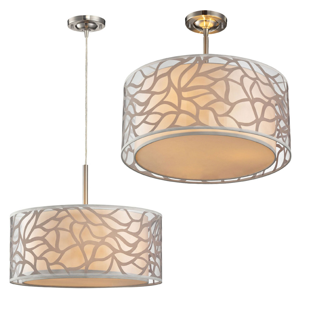 Drum lighting fixture lighting ideas for Modern chandelier lighting fixtures