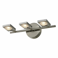 ELK 54012-3 Reilly Contemporary Brushed Nickel/Brushed Aluminum LED 3-Light Vanity Light Fixture
