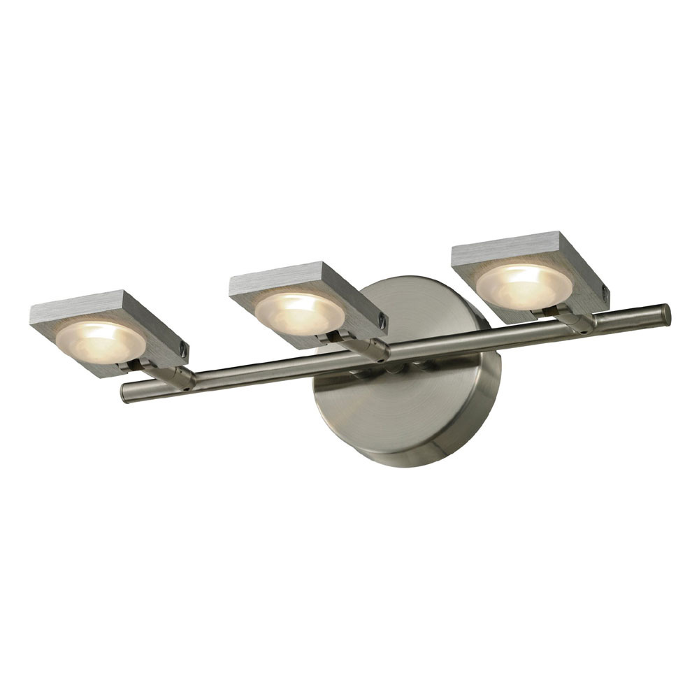 Bathroom Light Fixtures In Brushed Nickel elk 54012-3 reilly contemporary brushed nickel/brushed aluminum