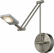 ELK 54018-1 Reilly Contemporary Brushed Nickel LED Wall Swing Arm Lamp