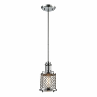 ELK 55001-1 Brisbane Modern Polished Chrome Mini Ceiling Light Pendant