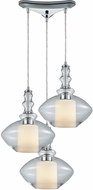 ELK 56500-3 Alora Contemporary Polished Chrome Multi Drop Ceiling Lighting