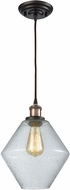 ELK 56510-1 Raindrop Glass Contemporary Antique Copper,Oil Rubbed Bronze Mini Pendant Lighting Fixture