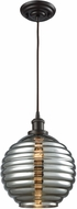 ELK 56550-1 Ridley Contemporary Oil Rubbed Bronze Mini Hanging Light