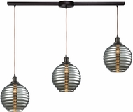 ELK 56550-3L Ridley Contemporary Oil Rubbed Bronze Multi Pendant Lighting Fixture